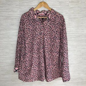Talbots Floral Long Sleeve Blouse